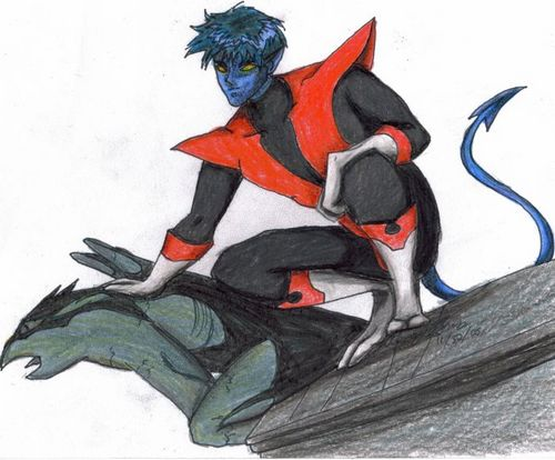 X-Men Fan Fiction wallpaper entitled Nightcrawler