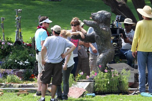 On the set of 'Free Hugs' [July 31, 2011]