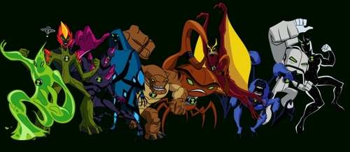 Ben 10: Ultimate Alien achtergrond possibly with anime titled Original Aliens