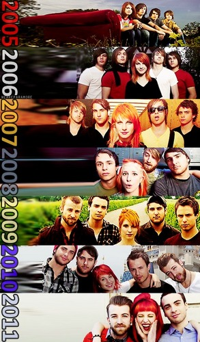 paramore Through The Years