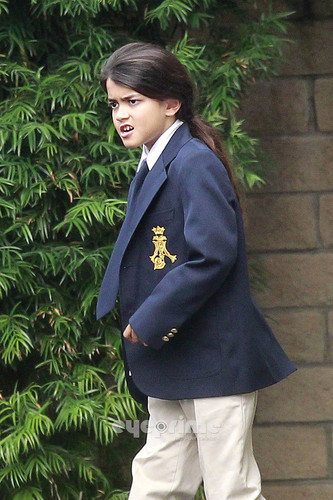 Paris and Prince Jackson go to Church