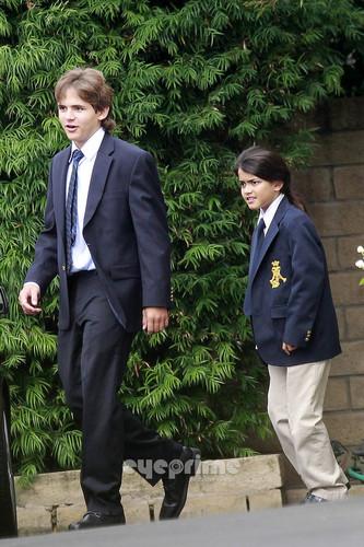 Paris and Prince Jackson go to Church