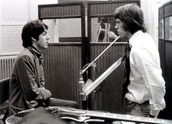 Paul and Mick Jagger