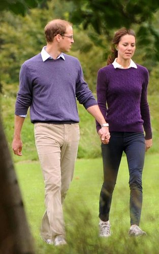 Prince William & Kate's Hollyrood Park Stroll
