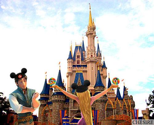 Rapunzel & Flynn at ডিজনি World