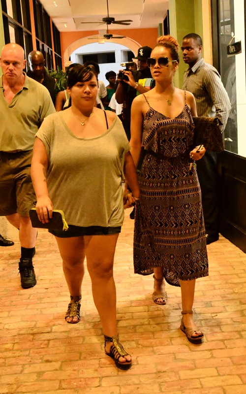 Rihanna spotted shopping with family and Friends in Barbados (July 31).