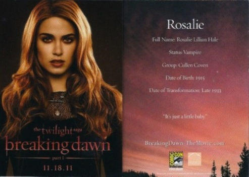 Rosalie Breaking Dawn Trading Card - Rosalie Cullen Photo ...