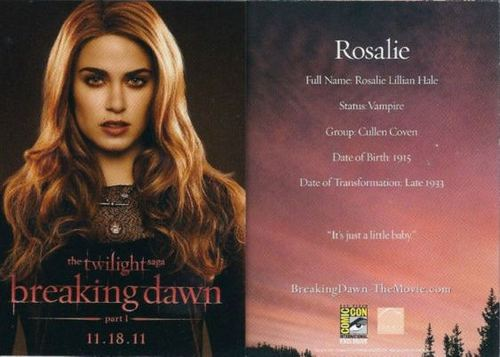 Rosalie promo card