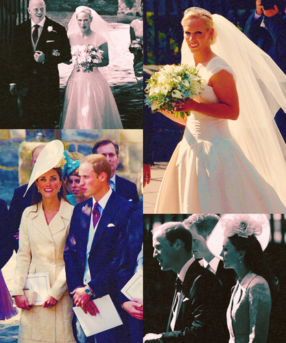 Royals at Zara Phillips' wedding