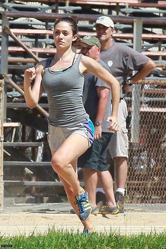 Running Around a Track Field - August 2