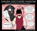 Sakura discovers fandom - naruto-and-naruto-shippuden fan art