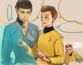 Spock and Checov - star-trek-2009 fan art