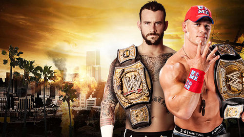 WWE wallpaper called Summerslam-CM Punk vs John Cena