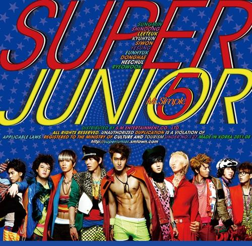 Super Junior hình nền with anime entitled Super Junior(Mr.Simple Album Cover)