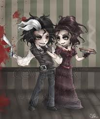 Nellie Lovett wallpaper probably with a hip boot and a portrait entitled Sweeney Todd