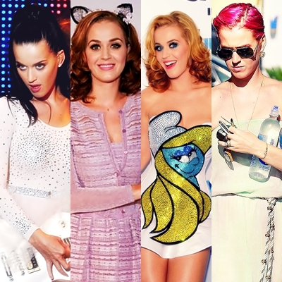 The Evolution of Katy Perry's hair