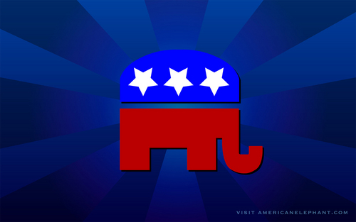U.S. Republican Party kertas dinding entitled The Symbol of the Republican Party