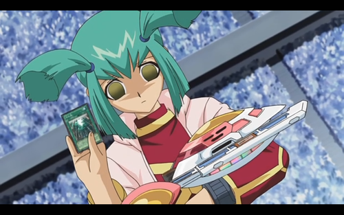 Luna from Yu-Gi-Oh! 5Ds wolpeyper possibly with anime called Tranced Luna