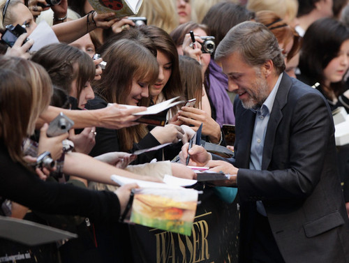 Christoph Waltz wallpaper with a business suit called Water For Elephants Germany Premiere