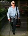 Wentworth Miller arrives on a flight at LAX International Airport on Sunday
