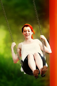 Alyson Hannigan images With the Family in a park wallpaper and background photos