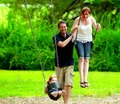 With the Family in a park - alyson-hannigan photo