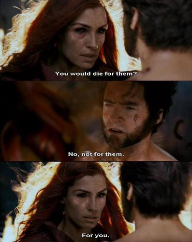 X-Men Movie Jean Grey and Wolverine