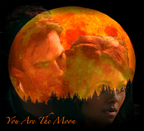आप are the moon-Bonnie & Damon