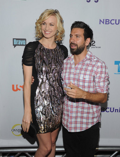 Yvonne Strahovski & Joshua Gomez @ NBC Universal TCA 2011 Press Tour All-Star Party