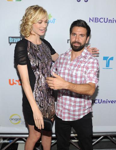Yvonne Strahovski & Joshua Gomez @ NBC Universal TCA 2011 Press Tour All-Star Party