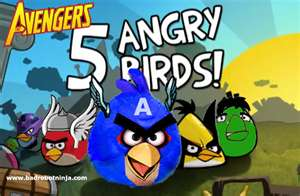 Angry Birds wallpaper with anime titled angry birds avengers