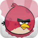 big red bird - angry-birds icon