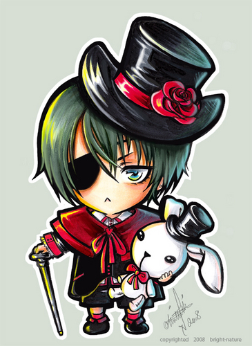 Chibi wallpaper containing anime entitled ciel Phantomhive chibi
