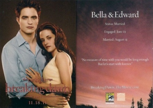 edward and bella card comic con
