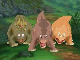 littlefoot,cera,ducky & spike