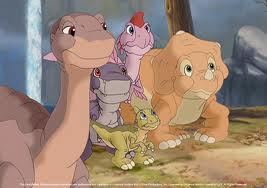 littlefoot,chomper,ducky,cera & ruby - the land before time