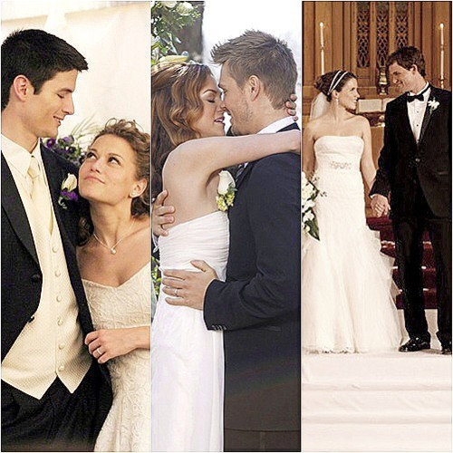 One Tree Hill wallpaper with a bridesmaid and a business suit called oth