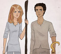 sadie and carter - the-kane-chronicles fan art