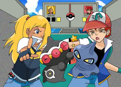 sasori pokemon fight