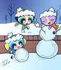 snow 日 : )