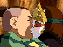 sokka and suki kissing