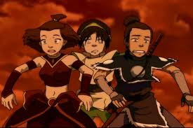 sokka,toph and suki