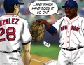 David Ortiz Cartoon - baseball fan art