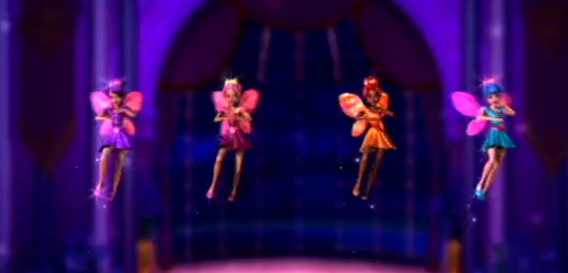 (from left to right) Harmony, Grace, Orange Sprite Without Name and Caprice