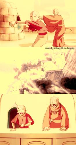 Aang and Gyatso