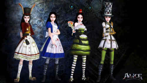 Video Games پیپر وال titled Alice Madness Returns