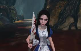 Video Games achtergrond probably containing a surcoat and a tabberd, tabard inn entitled Alice Madness Returns