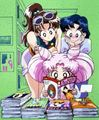 Ami, Lita and Chibiusa