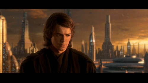 bintang Wars: Revenge of the Sith wallpaper containing a jalan, street and a business district entitled Anakin Skywalker