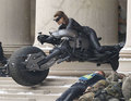 Catwoman's stunt double in action on 'DARK KNIGHT RISES' set